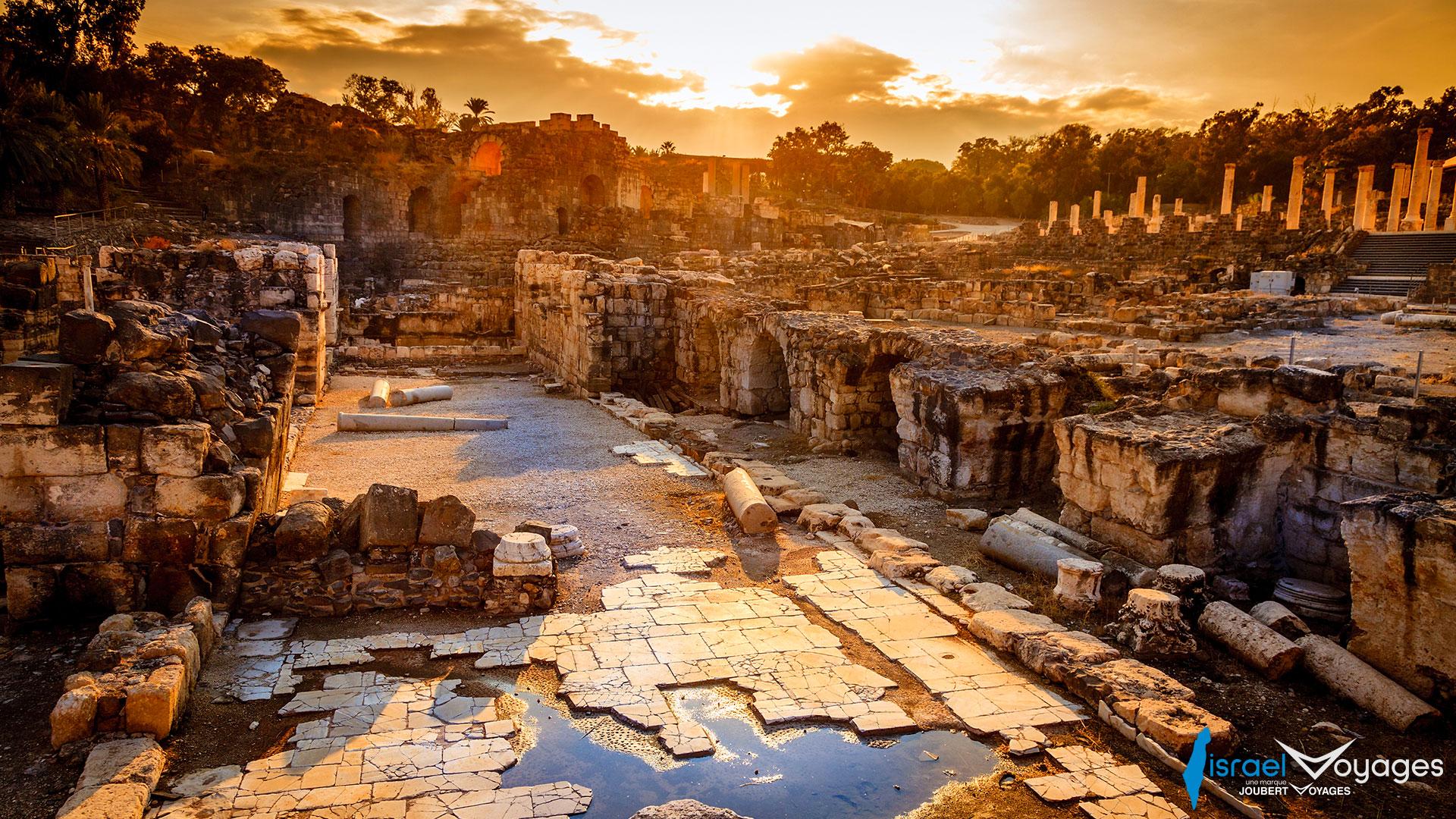 Ruines antiques de la ville de Beit She'an