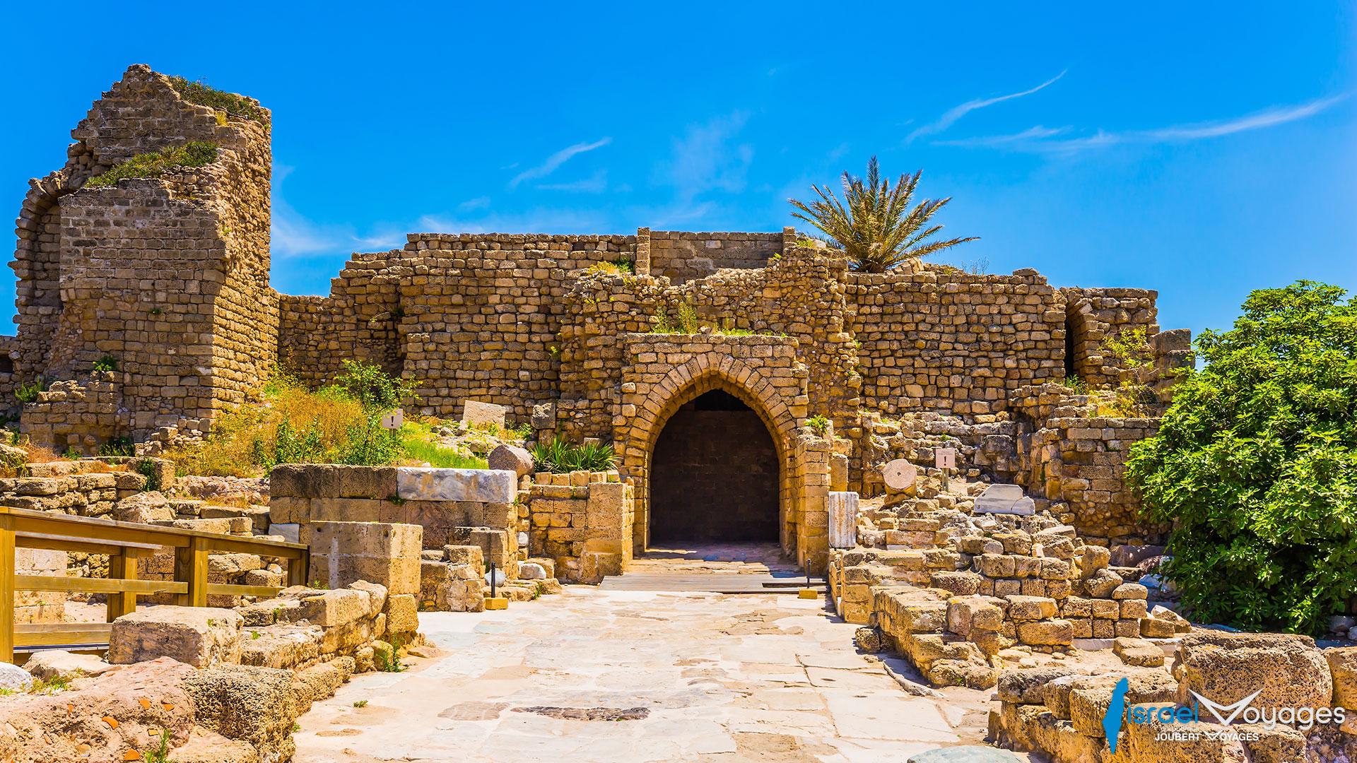 Ruines de l'amphithéâtre de Césarée