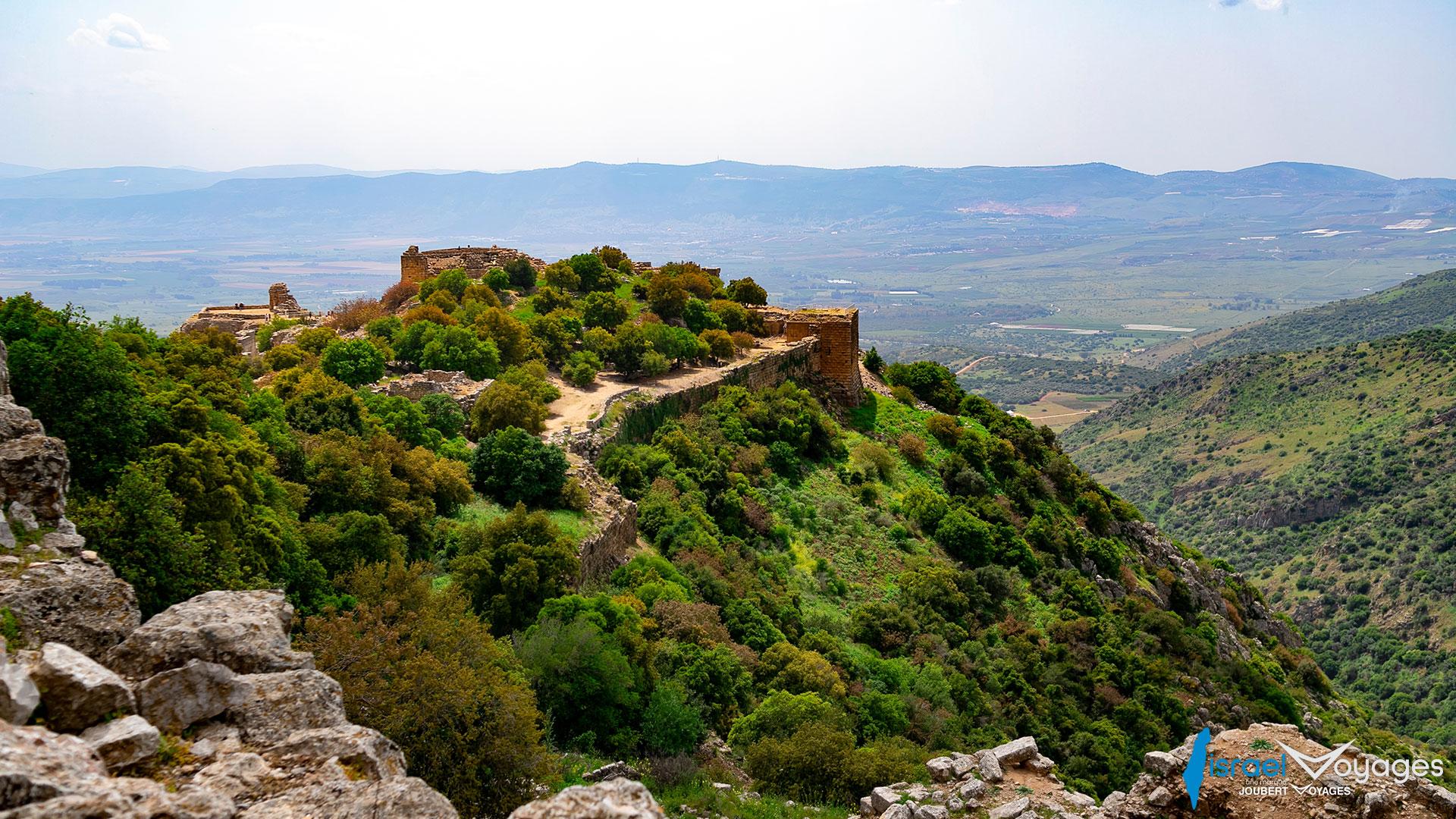 Ruines de la forteresse de Nimrod sur les hauteurs du Golan