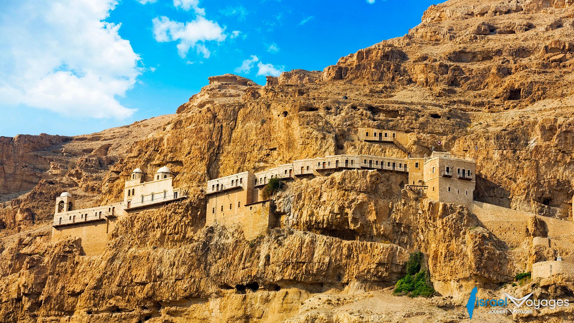 Monastère de la tentation à Jéricho en Palestine