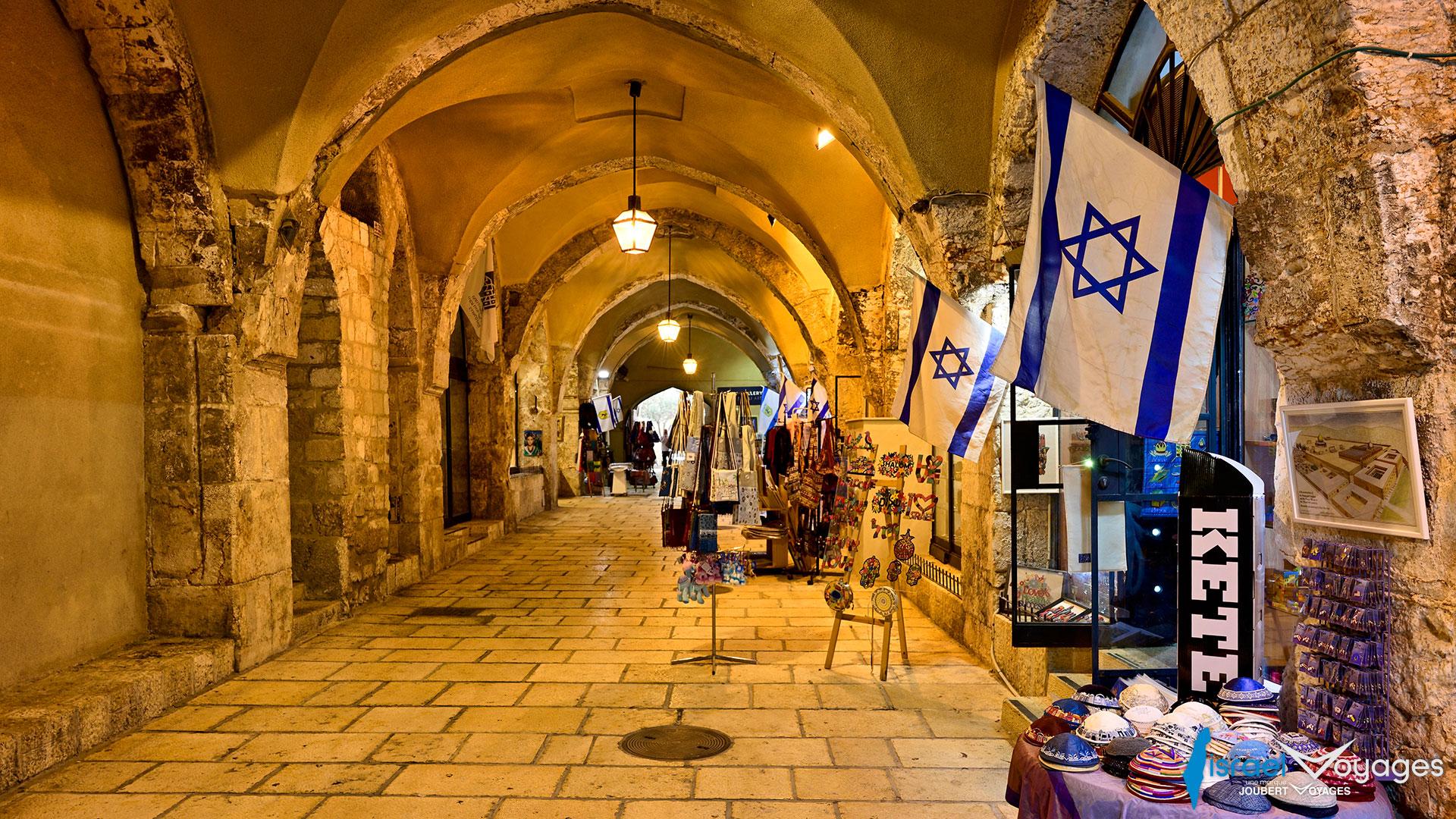 Souk de la rue du Cardo à Jérusalem