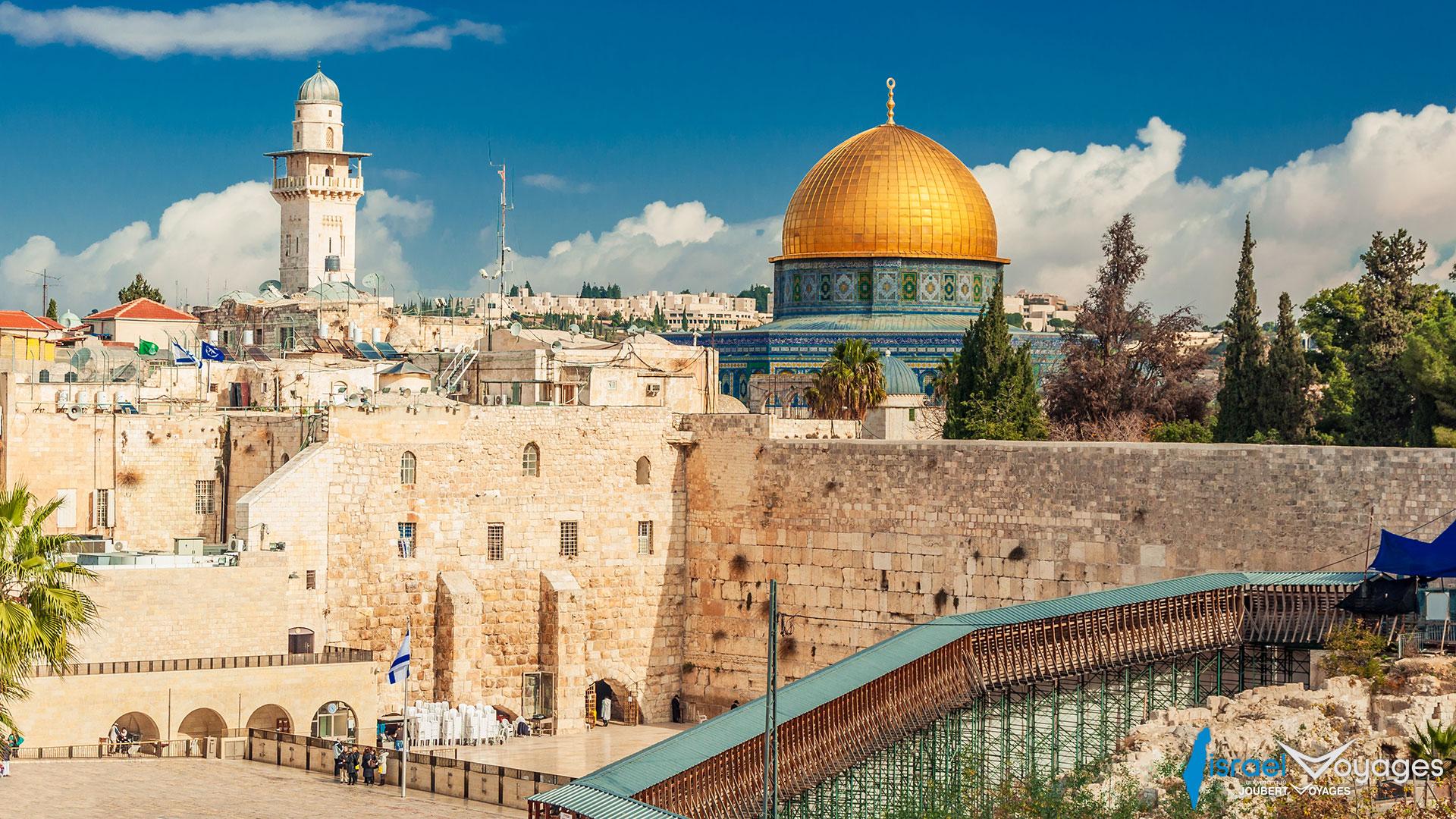 Mur des lamentations et Mosquée Al Aqsa à Jérusalem