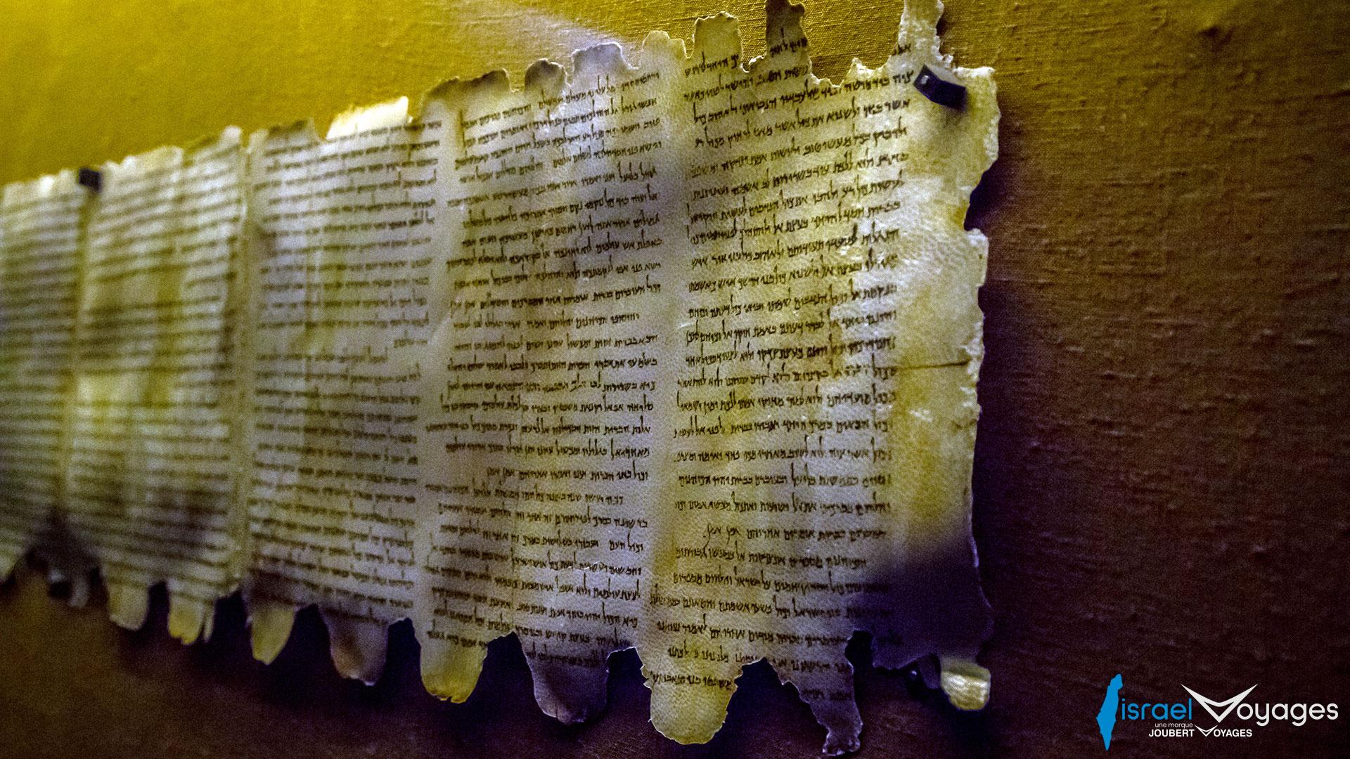 Manuscrits de la mer Morte à Qumran