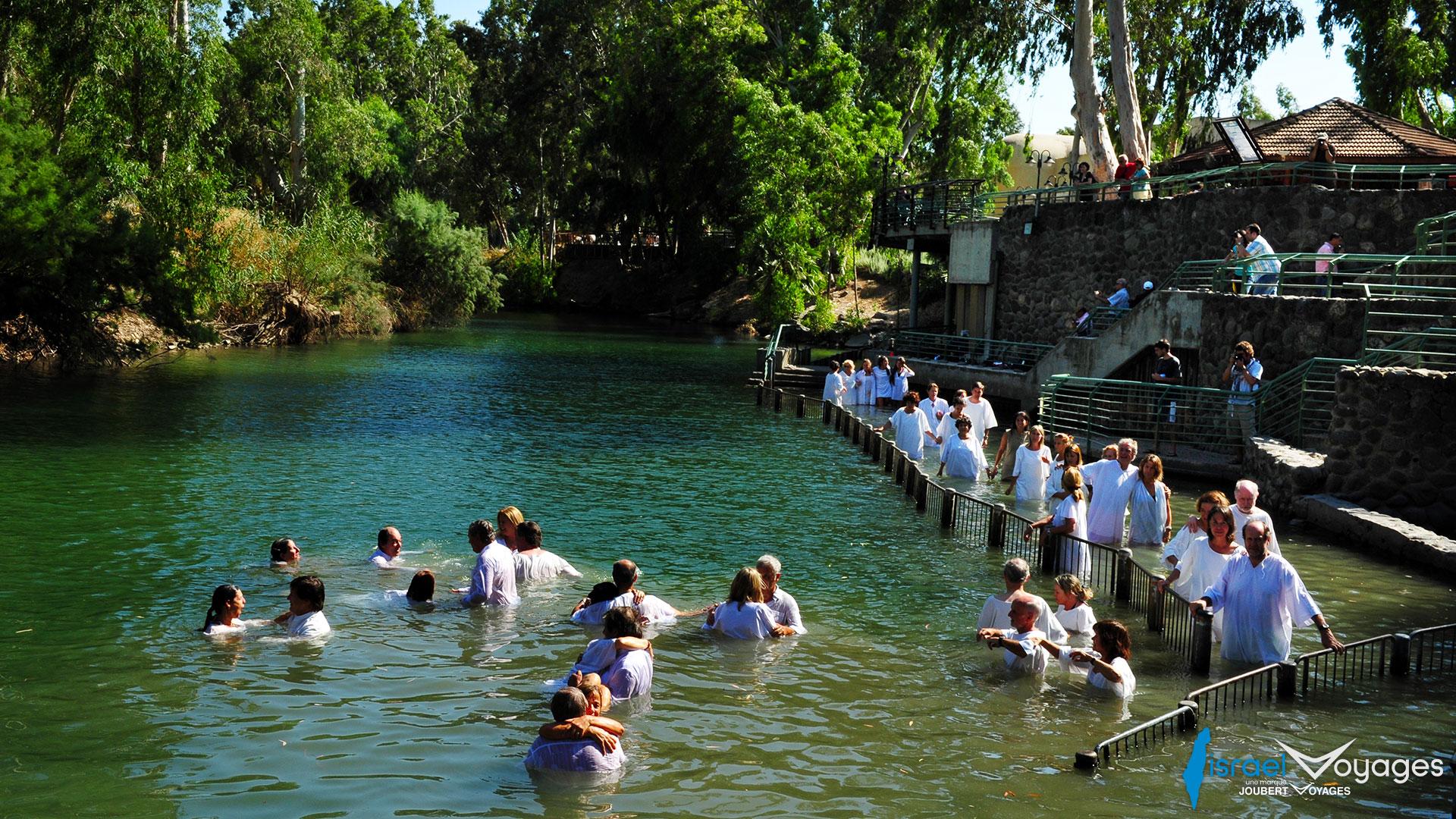 Yardenit, le site du baptême de Jésus, sur le Jourdain